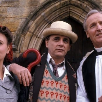 """Publicity still from Doctor Who: """"The Curse of Fenric"""", BBC"""