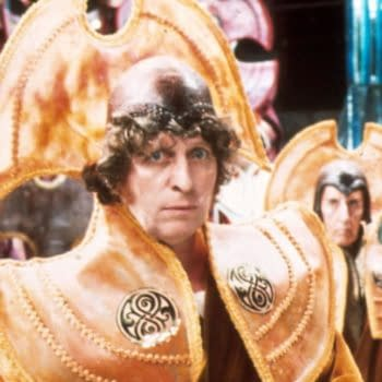 """Tom Baker in Doctor Who: """"The Deadly Assassin"""", BBC"""