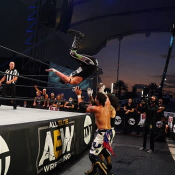 AEW is in the unique position of broadcasting from an open air arena. (Credit: AEW)