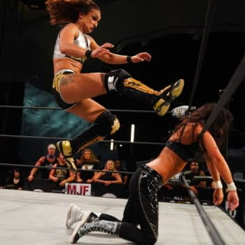 Thunder Rosa and Serene Deeb had the match of the night on AEW Dynamite on Wednesday. (Credit: AEW)