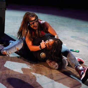 Britt Baker attacks Big Swole on AEW Dynamite (Credit: AEW)