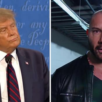 Dave Bautista is involved in a long-running feud with fellow WWE Hall-of-Famer President Donald Trump