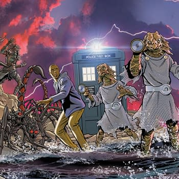 Christopher Jones Connecting Covers For Doctor Who Comic #1-4