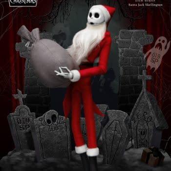 Nightmare Before Christmas Jack Skellington is Santa with Beast Kingdom