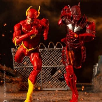 The Flash Races Red Death in this McFarlane Toys Two-Pack