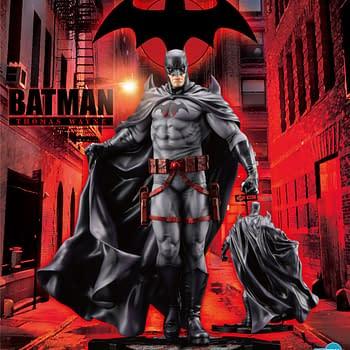 Flashpoint Batman Coming Soon as Kotobukiya Teases New Statue