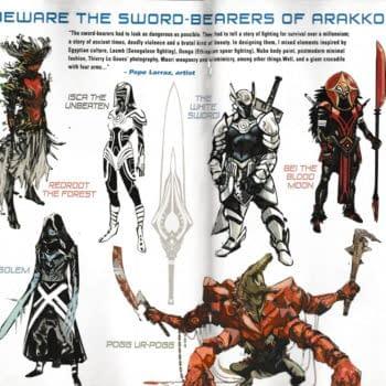 Pepe Larraz' Designs For The Sword Bearers Of Arrapo