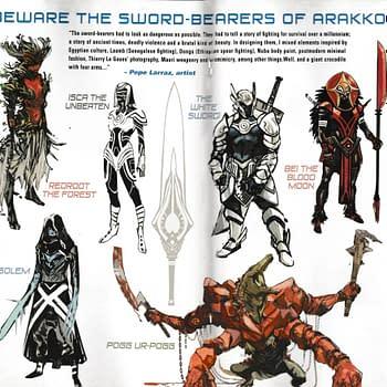 Pepe Larraz Designs For The Sword Bearers Of Arakko