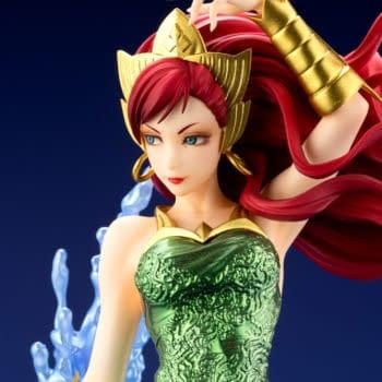 DC Comics Mera Creates a Splash with New Kotobukiya Statue