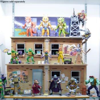 Teenage Mutant Ninja Turtle Street Diorama from NECA Dropping Today