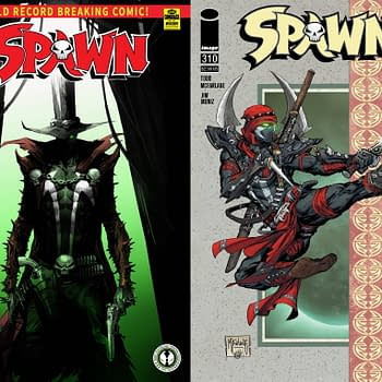 Gunslinger Spawn and Ninja Spawn On Cover Of #310 But That's All