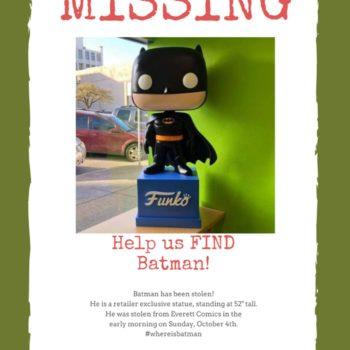Everett Comics Broken Into, Four-Foot Funko Batman Stolen