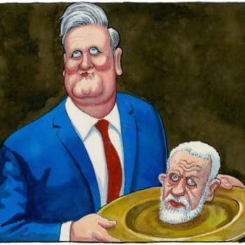 Steve Bell, Under Fire, for Latest Guardian Cartoon