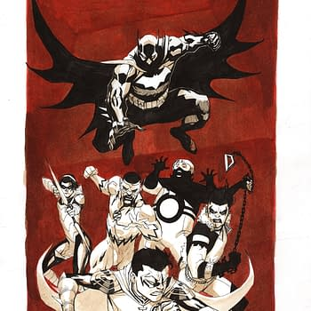 Mike Mignola Jim Lee Frank Quietly in NYCC/MCM Charity Art Auction