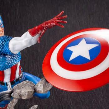 Captain America Joins the Fine Art Statue Series from Kotobukiya