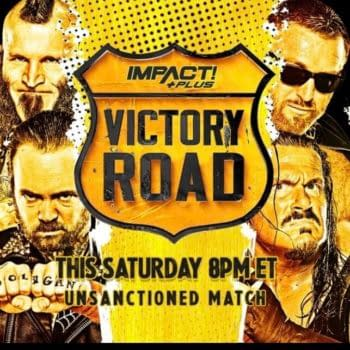 Rhino teams with Heath to take on Reno Scum at Impact Wrestling Victory Road.
