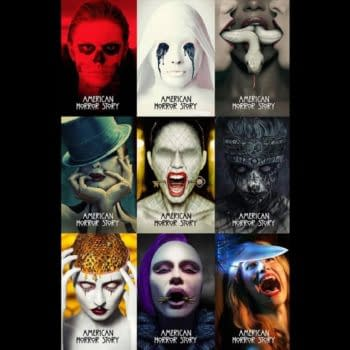 American Horror Story key art over the course of nine seasons. (Image: FX Networks)