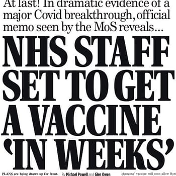 Mail On Sunday Leaks NHS Vaccine News &#8211 After An Editorial Bollocking