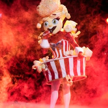 THE MASKED SINGER: Popcorn in the ÒThe Group A Play Offs - Famous Masked WordsÓ episode of THE MASKED SINGER airing Wednesday, Oct. 7 (8:00-9:00 PM ET/PT) on FOX. © 2020 FOX MEDIA LLC. CR: Michael Becker/FOX.