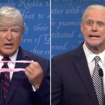 Saturday Night Live Season 46 spoofed the POTUS debate (Image: NBCU)
