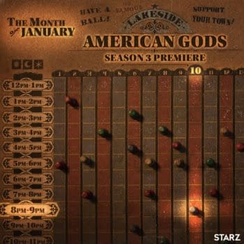 American Gods released key art to coincide with its return date anouncement. (Image: STARZ)