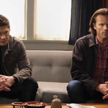 """Supernatural -- """"Despair"""" -- Image Number: SN1518C_0181r.jpg -- Pictured (L-R): Jensen Ackles as Dean and Jared Padalecki as Sam -- Photo: Bettina Strauss/The CW -- © 2020 The CW Network, LLC. All Rights Reserved."""