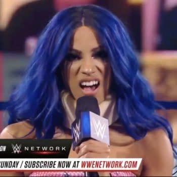Sasha Banks cuts a promo on Bayley on WWE Friday Night Smackdown.