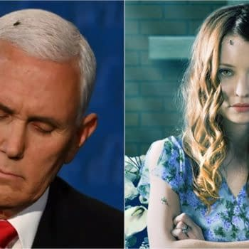 American Gods character Laura Moon the subject of a Mike Pence cosplay attempt? (Images: C-SPAN screencap/STARZ)