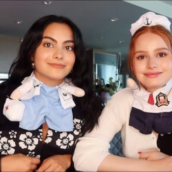 Riverdale's Madelaine Petsch and Camila Mendes Celebrate Halloween