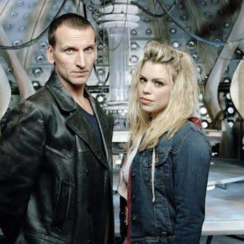 "Christopher Eccleston and BIllie Piper, ""Doctor Who"", BBC Studios"