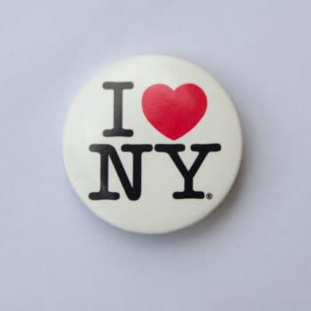 BELGRADE, SERBIA - APRIL 28, 2020: I love NY logo on a badge. This logo basis of an advertising campaign used since 1977 to promote tourism in the state of New York. (Image: Goran Bogicevic / Shutterstock.com)