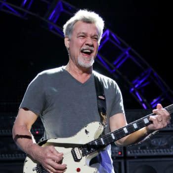 Eddie Van Halen of Van Halen performs onstage at Jones Beach Theater on August 14, 2015 in Wantagh, New York. Editorial credit: Debby Wong / Shutterstock.com