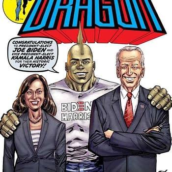 Celebrate Joe Biden Kamala Harris On Savage Dragon #253 New Printing