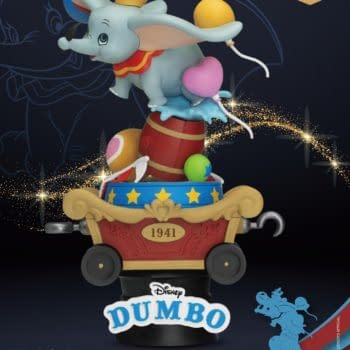 Dumbo Trains to Fly in New Disney Statue From Beast Kingdom