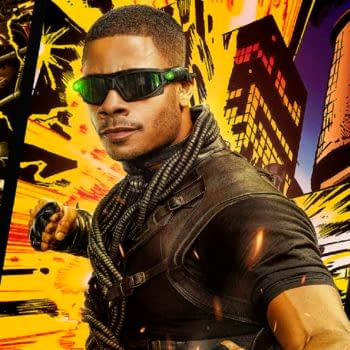 Black Lightning -- Image Number: BLK_CW2021_1080x1350_PAINKILLER.jpg -- Pictured: Jordan Calloway as Khalil/Painkiller -- Photo: The CW -- 2020 The CW Network, LLC. All Rights Reserved.