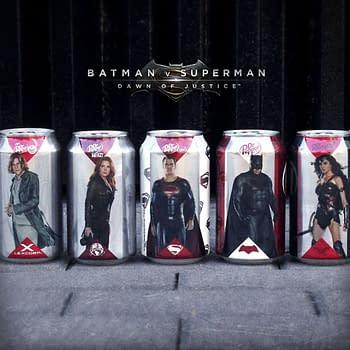 Batman V Superman Dawn of Justice Dr. Pepper Cans