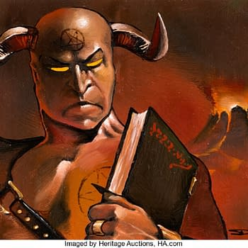 Magic: The Gathering Demonic Tutor Art Now Auctioning At Heritage
