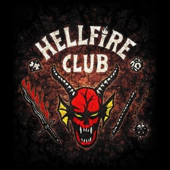 Stranger Things shared a look at the logo for The Hellfire Club in season 4 (Image: Netflix)