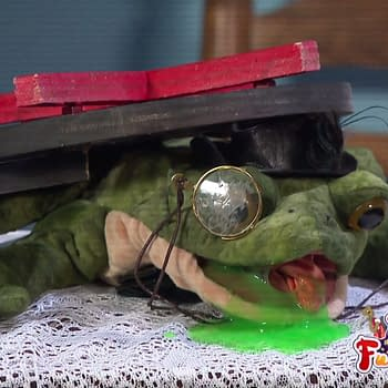 Friendship Frog's first and final appearance on WWE Raw as part of the Firefly Funhouse