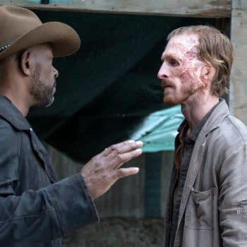 Lennie James as Morgan Jones, Austin Amelio as Dwight - Fear the Walking Dead _ Season 6, Episode 5 - Photo Credit: Ryan Green/AMC