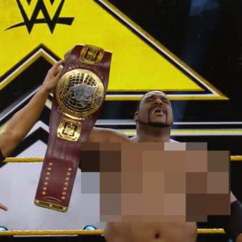 Keith Lee appears in WWE NXT before main roster censorship. #FreeKeithLeesNipples