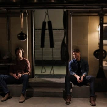 """Supernatural -- """"Inherit the Earth"""" -- Image Number: SN1519a_0174r.jpg -- Pictured (L-R): Jared Padalecki as Sam and Jensen Ackles as Dean -- Photo: Bettina Strauss/The CW -- © 2020 The CW Network, LLC. All Rights Reserved."""