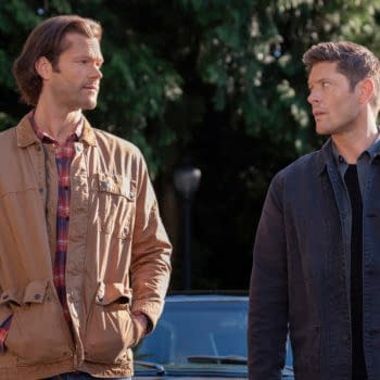 """Supernatural -- """"Carry On"""" -- Image Number: SN1520C_0015r.jpg -- Pictured (L-R): Jared Padalecki as Sam and Jensen Ackles as Dean -- Photo: Robert Falconer/The CW -- © 2020 The CW Network, LLC. All Rights Reserved."""