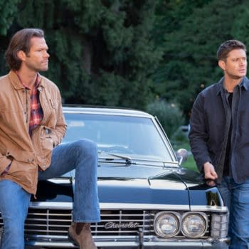 """Supernatural -- """"Carry On"""" -- Image Number: SN1520C_0272r.jpg -- Pictured (L-R): Jared Padalecki as Sam and Jensen Ackles as Dean -- Photo: Robert Falconer/The CW -- © 2020 The CW Network, LLC. All Rights Reserved."""