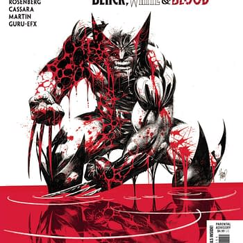 Wolverine Refrains From Killing Baby in Black White &#038 Blood #1 [XH]