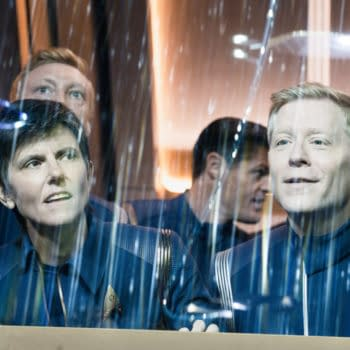 """""""Die Trying"""" — Ep#305 — Pictured: Tig Notaro as engineer Jett Reno and Anthony Rapp as Lt. Paul Stamets of the CBS All Access series STAR TREK: DISCOVERY. Photo Cr: Michael Gibson/CBS ©2020 CBS Interactive, Inc. All Rights Reserved."""