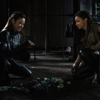 """""""Scavengers"""" — Ep#306 — Pictured: Michelle Yeoh as Georgiou and Sonequa Martin-Green as Burnham of the CBS All Access series STAR TREK: DISCOVERY. Photo Cr: Michael Gibson/CBS ©2020 CBS Interactive, Inc. All Rights Reserved."""
