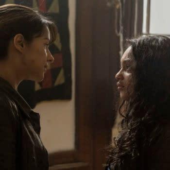 Aliyah Royale as Iris, Annet Mahendru as Huck - The Walking Dead: World Beyond _ Season 1, Episode 9 - Photo Credit: Antony Platt/AMC