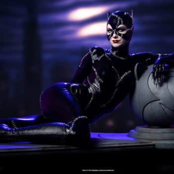 Batman Returns Catwoman Lounges Around with New Tweeterhead Statue