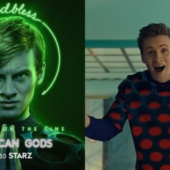 American Gods gets viewers caught up-to-speed on Tech Boy for season 3 (Images: STARZ screencaps)